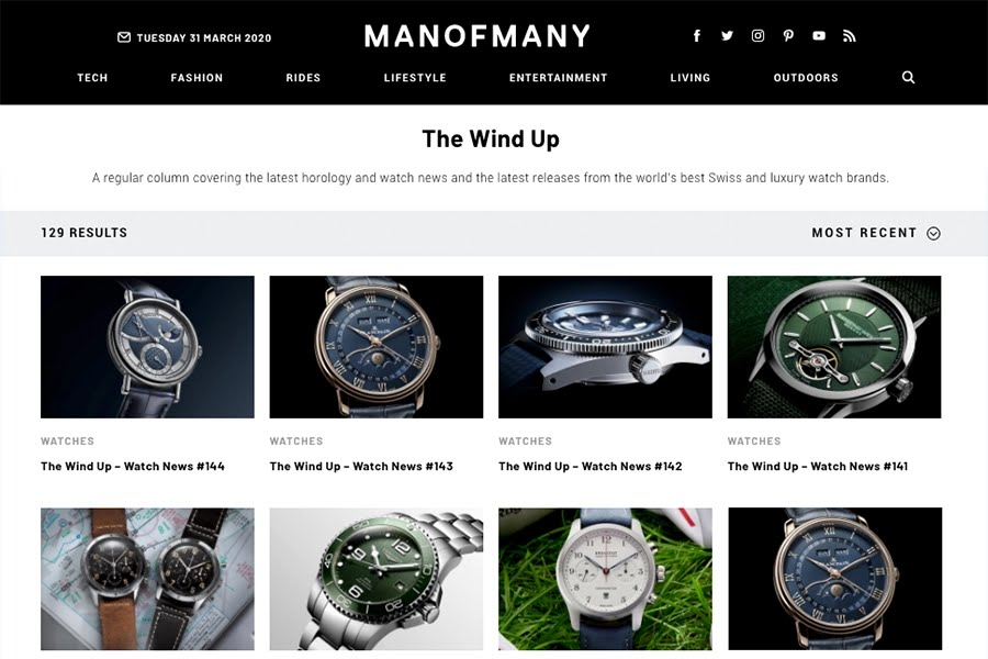 Best Watch Blogs - Man of Many The Wind Up