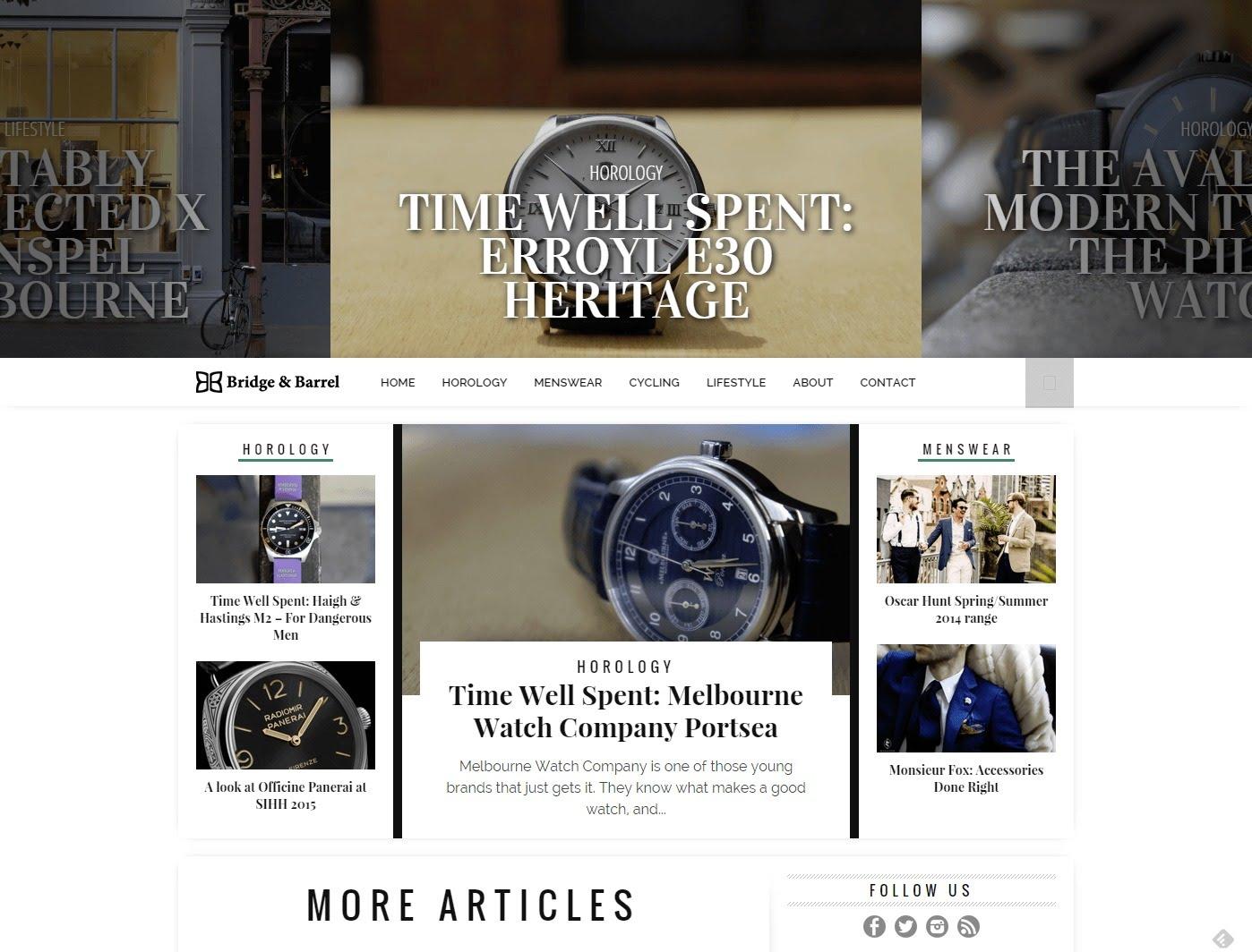 bridge and barrel horology stylish watches