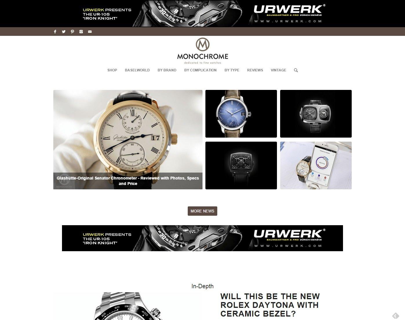 monochrome watches dedicated fine watches