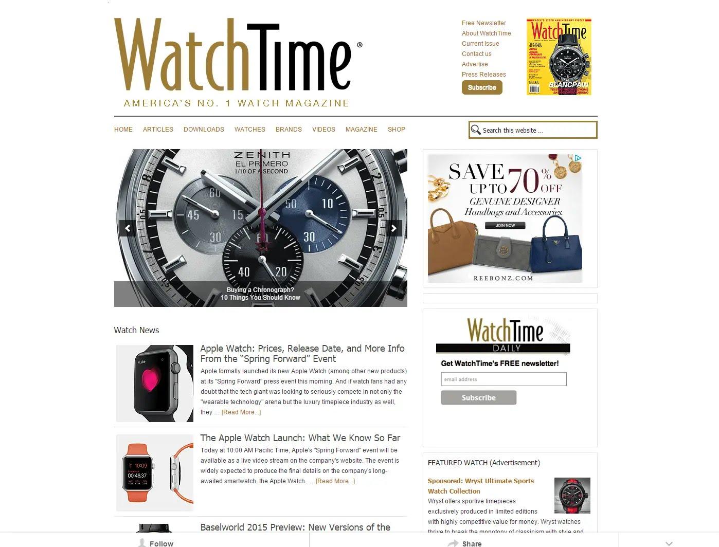 watchtime magazine website
