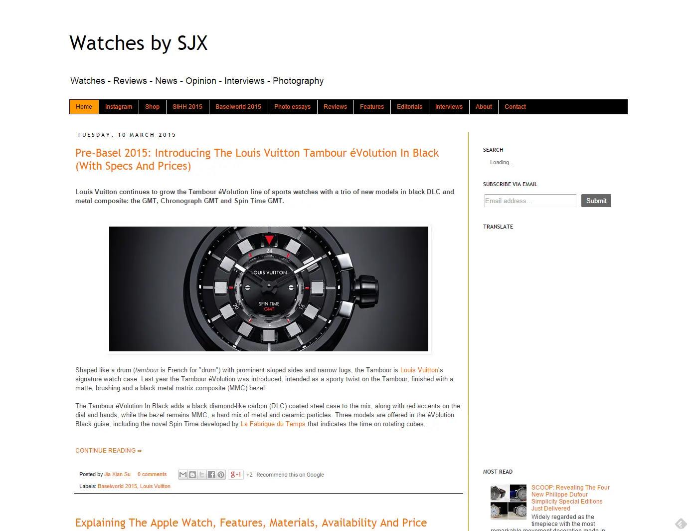 watches by sjx website