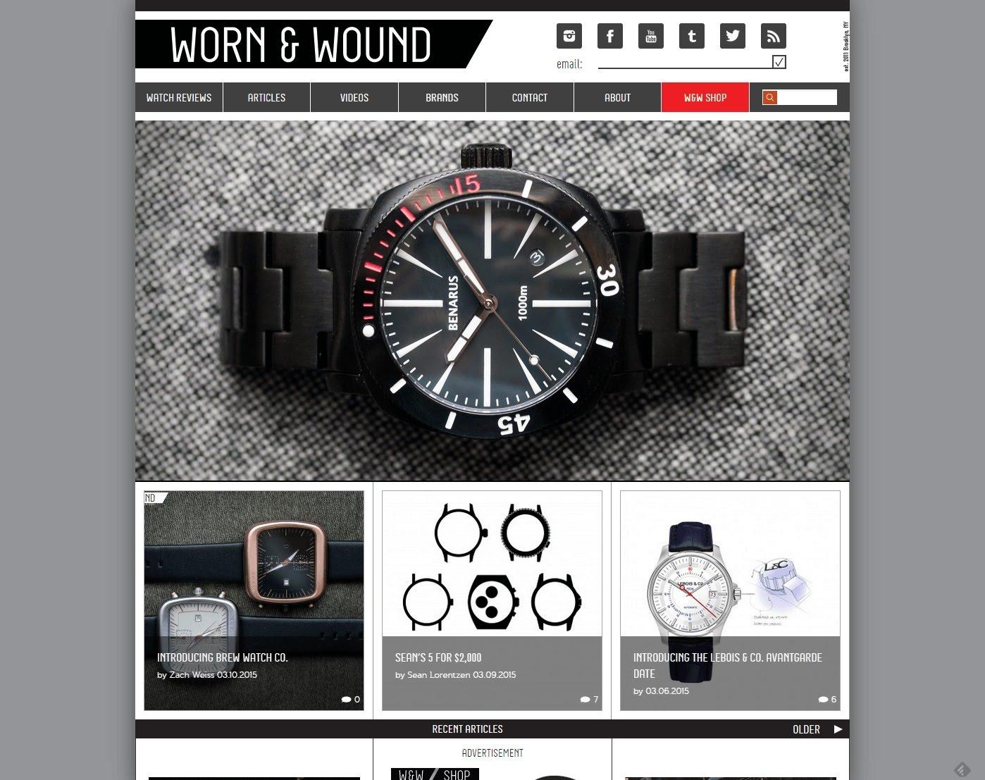 worn & wound watch blog watch reviews